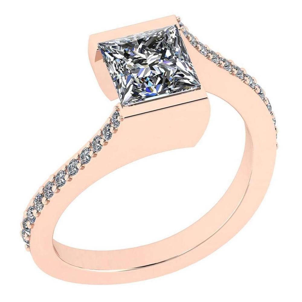 Certified 1.48 Ctw Diamond VS/SI1 18K Rose Gold Halo Ring #IRS26475