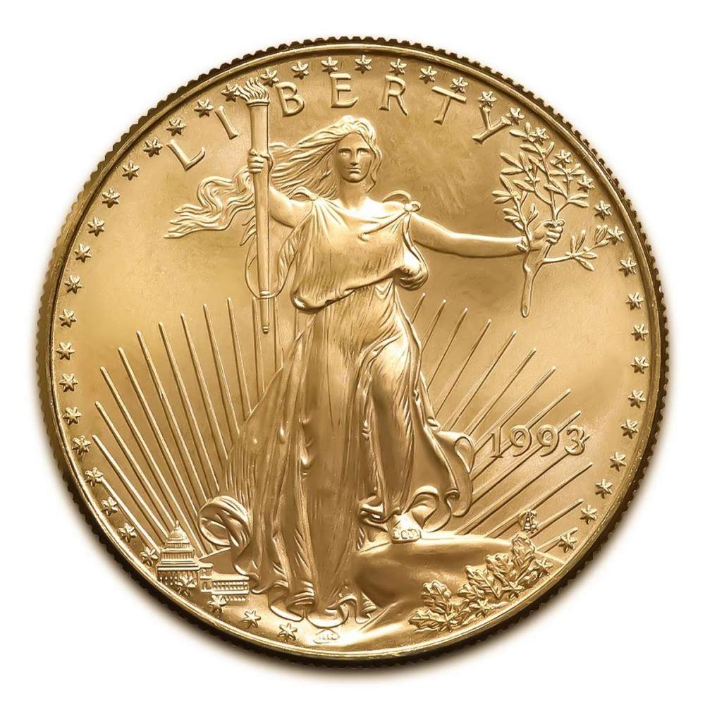1993 American Gold Eagle 1/2 oz Uncirculated #IRS25023