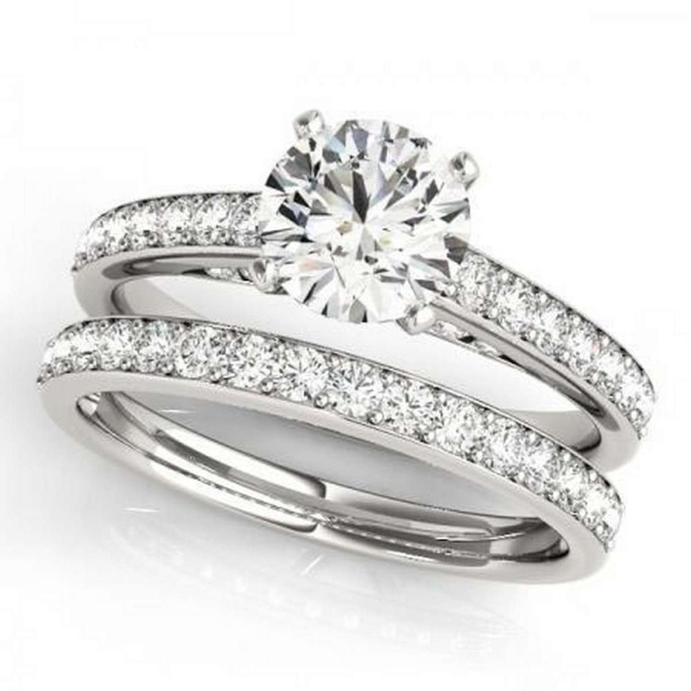 CERTIFIED 18KT WHITE GOLD 1.31 CTW G-H/VS-SI1 DIAMOND BRIDAL SET  #IRS86775