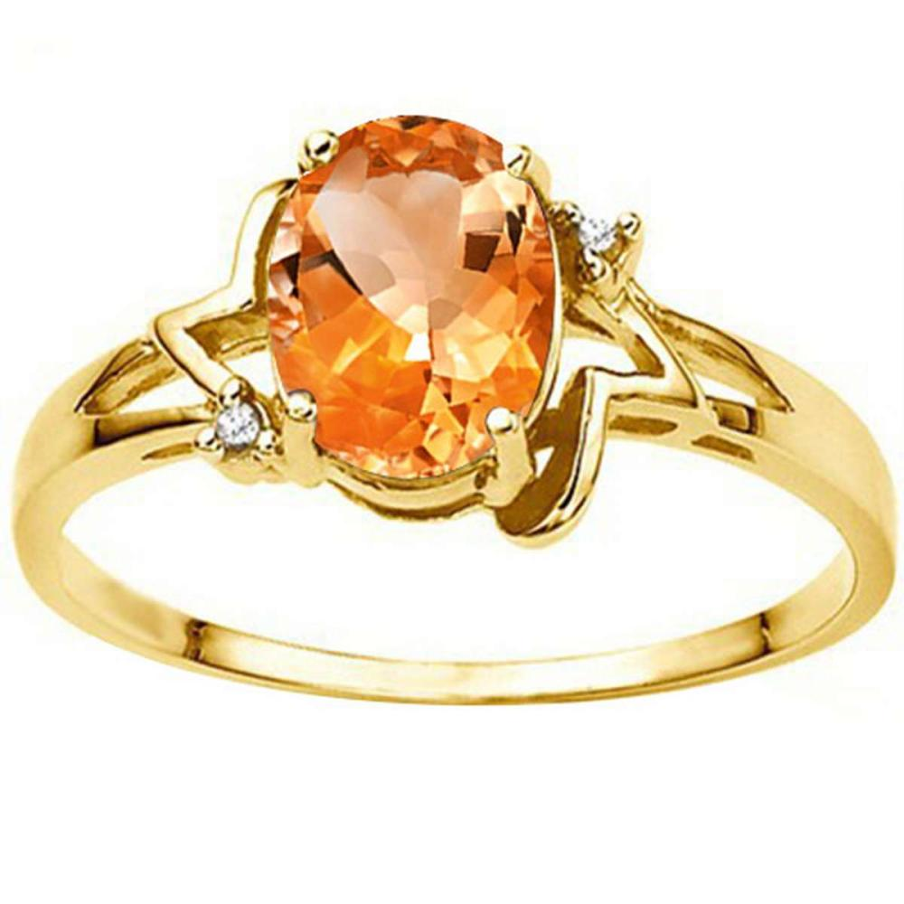 0.88 CT AZOTIC MYSTIC QUARTZ AND ACCENT DIAMOND 0.01 CT 10KT SOLID YELLOW GOLD RING #IRS93980