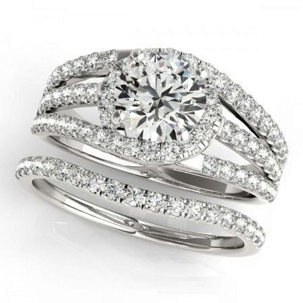 CERTIFIED 18KT WHITE GOLD 1.01 CTW G-H/VS-SI1 DIAMOND BRIDAL SET #IRS86767