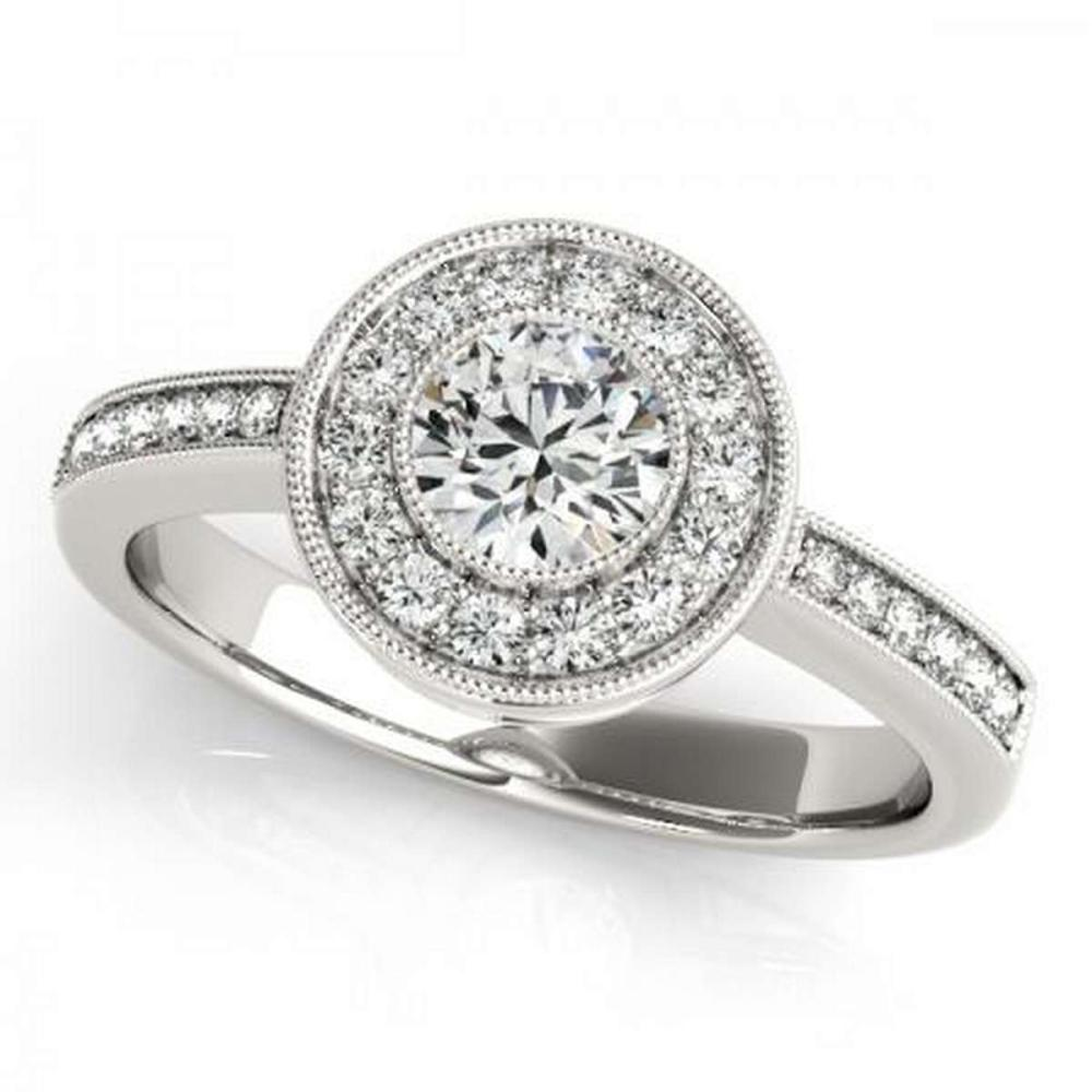 CERTIFIED PLATINUM 2.50 CTW G-H/VS-SI1 DIAMOND HALO ENGAGEMENT RING #IRS86204
