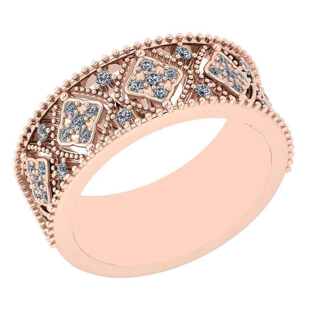 Certified 0.26 Ctw Diamond VS/SI1 14K Rose Gold Band #IRS24679