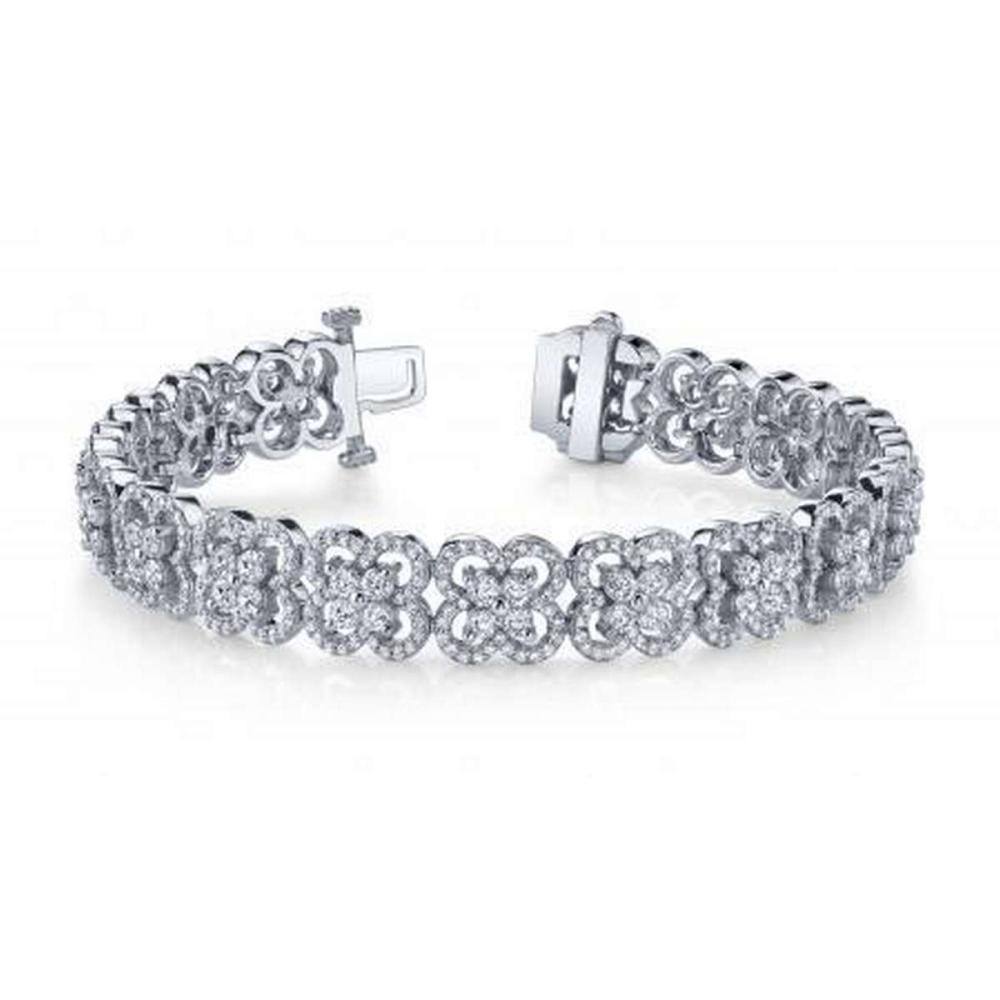 14KT WHITE GOLD 5 CTW G-H SI2/SI3 BLOSSOMING BEAUTY DIAMOND BRACELET #IRS20284