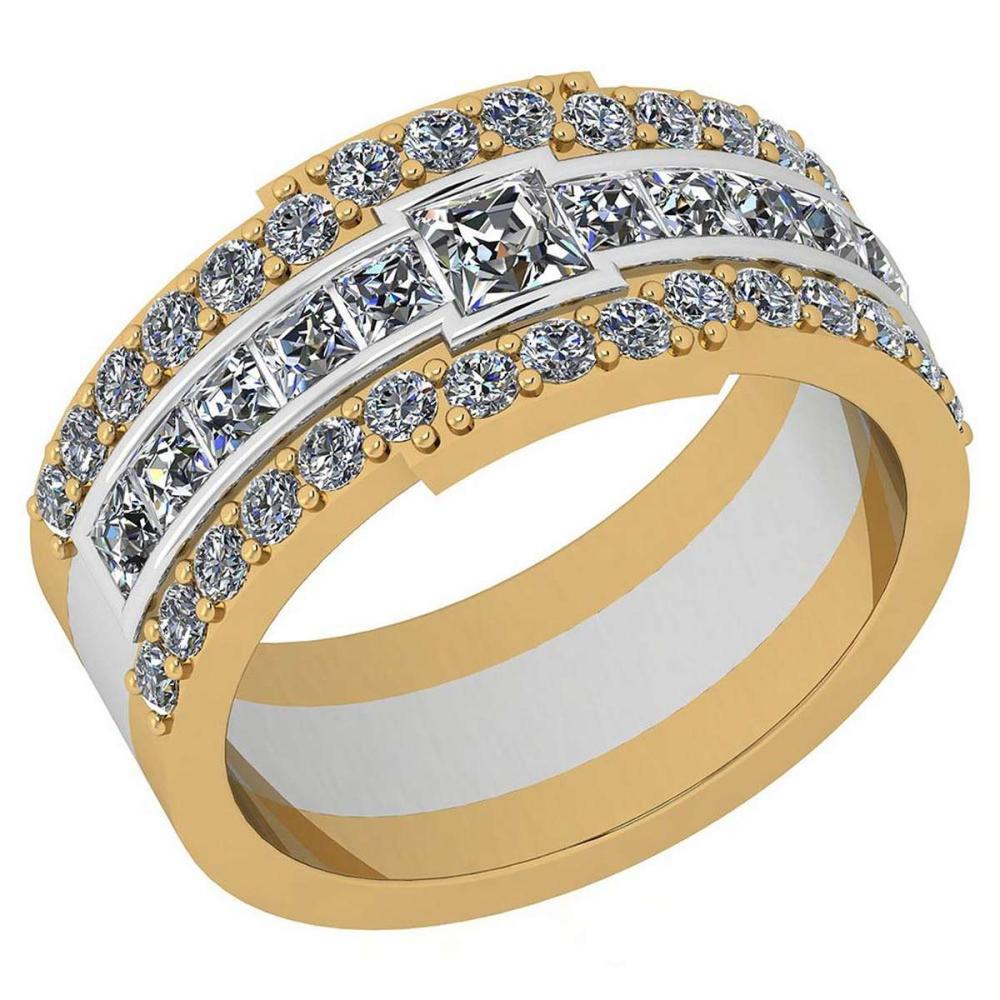 Certified 1.41 Ctw Diamond VS2/SI1 Two-Tone Engagement 18K White And Yellow Gold Ring #IRS28565
