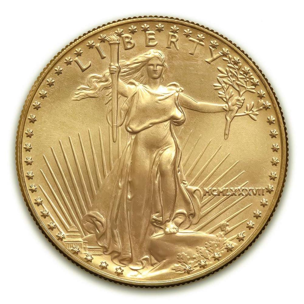 1987 American Gold Eagle 1/2 oz Uncirculated #IRS25025