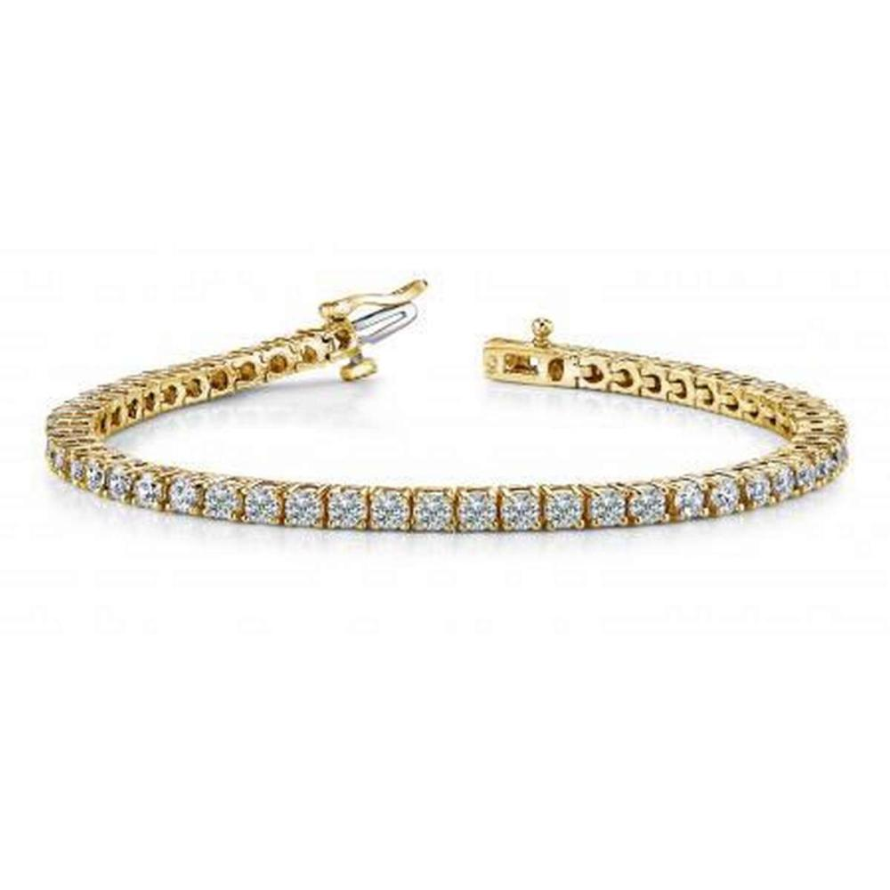 14K YELLOW GOLD 2 CTW G-H VS2/SI1 CLASSIC FOUR PRONG TENNIS BRACELET #IRS19936
