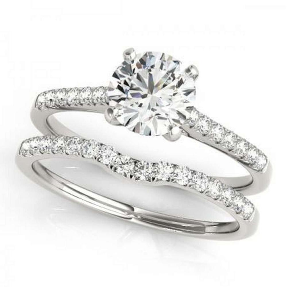 CERTIFIED 18KT WHITE GOLD 1.47 CTW G-H/VS-SI1 DIAMOND BRIDAL SET #IRS86764