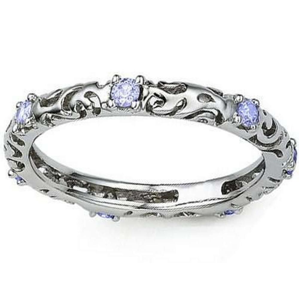 1/5 CT TANZANITE 925 STERLING SILVER RING #IRS36316