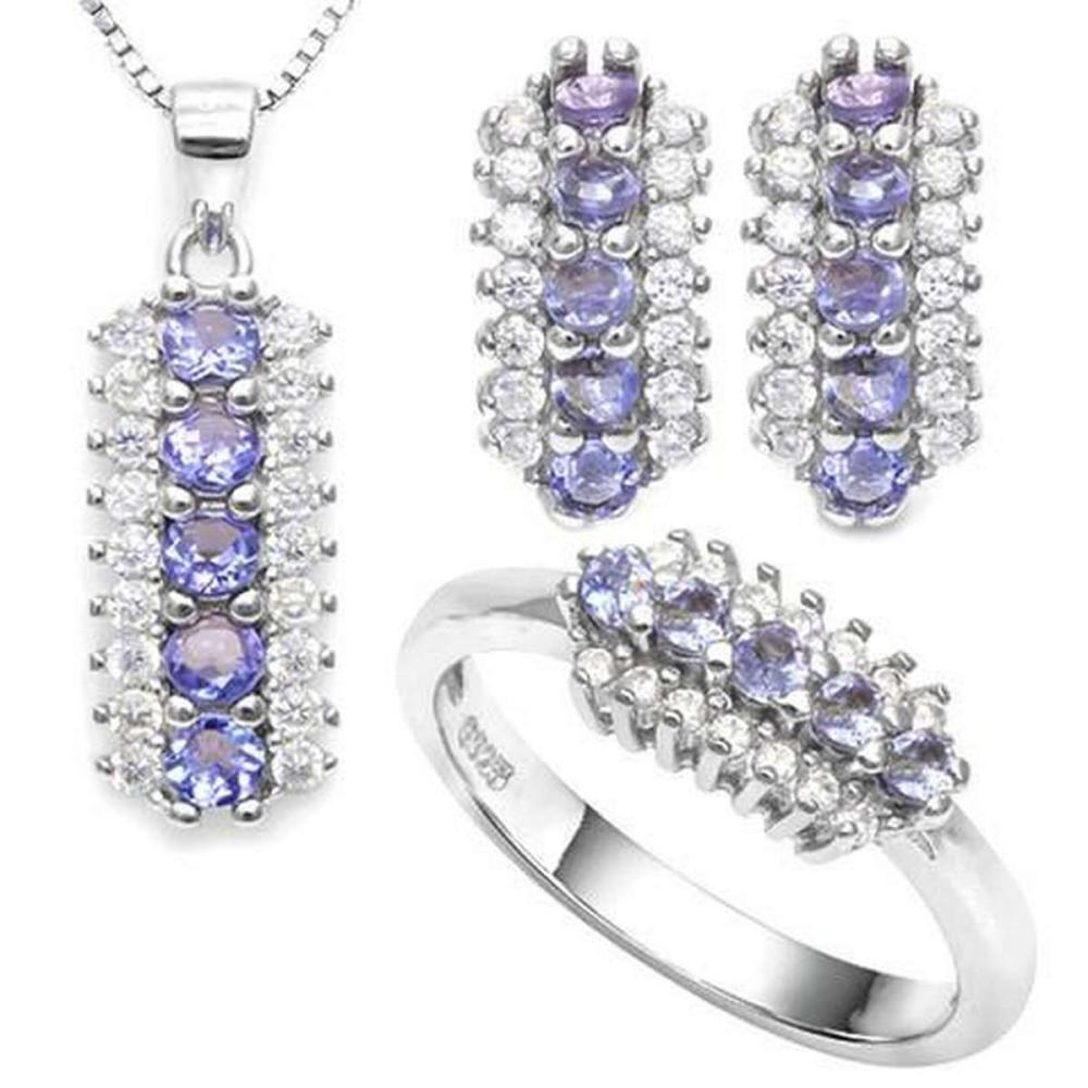 EMERALD 925 STERLING SILVER SET #IRS36422