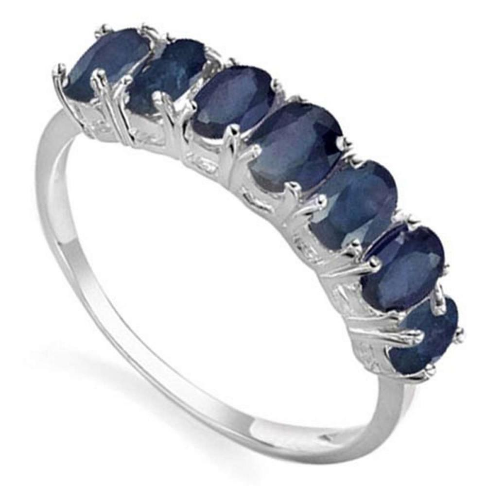 1.5 CTW GENUINE SAPPHIRE 10KT SOLID WHITE GOLD RING #IRS57305