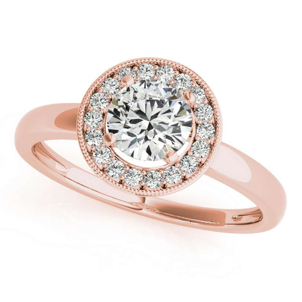 CERTIFIED 18K ROSE GOLD 1.36 CT G-H/VS-SI1 DIAMOND HALO ENGAGEMENT RING #IRS86290