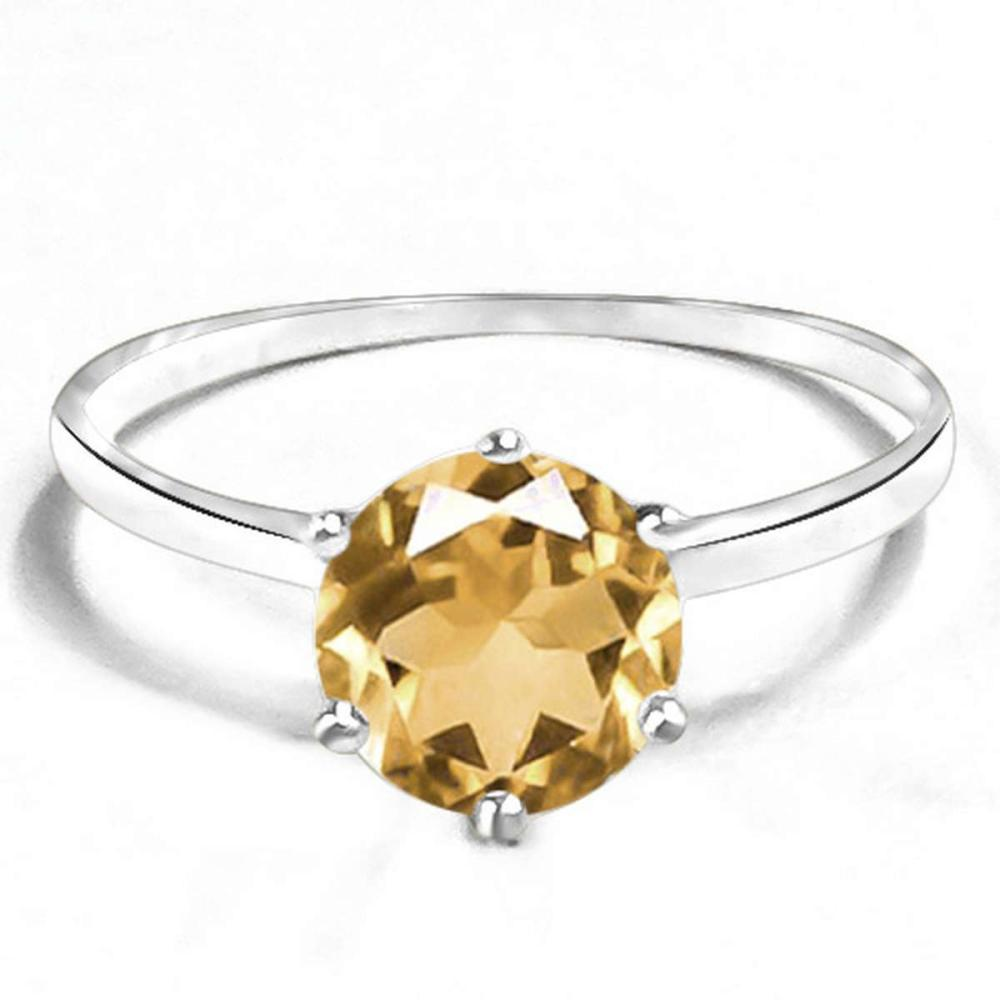 0.73 CT CITRINE 10KT SOLID WHITE GOLD RING #IRS93829