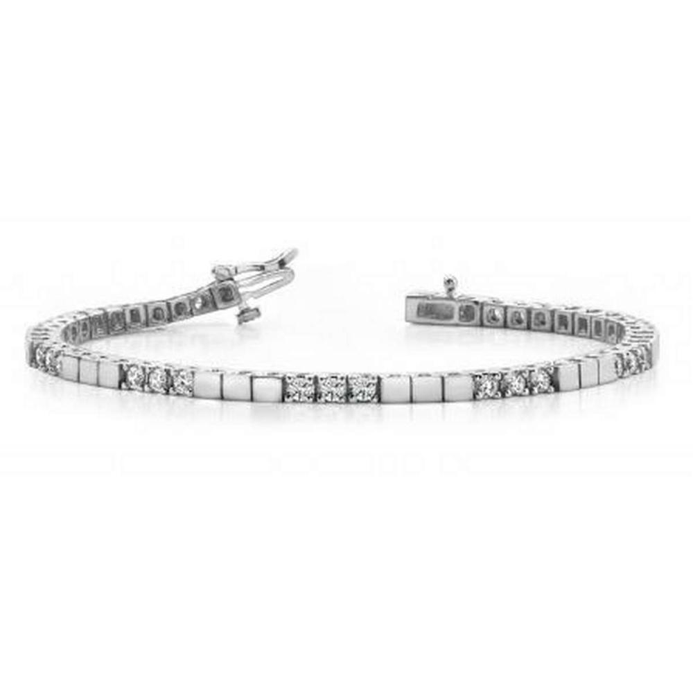 14K WHITE GOLD 1 CTW G-H VS2/SI1 CLASSIC DIAMOND BLOCK HARMONY TENNIS BRACELET #IRS19945