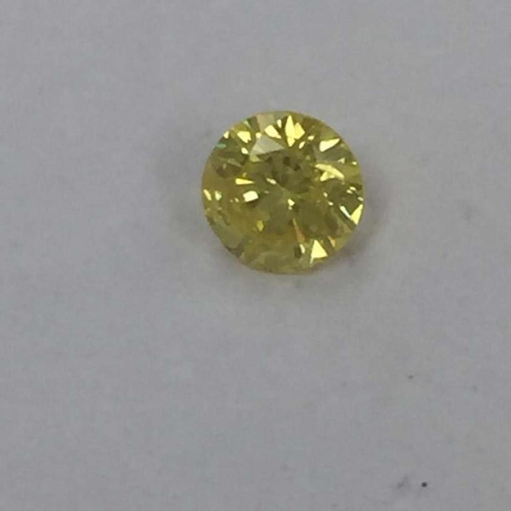 CERTIFIED EGL USA ROUND 0.92 CTW FANCY YELLOW/SI2 DIAMOND #IRS92087