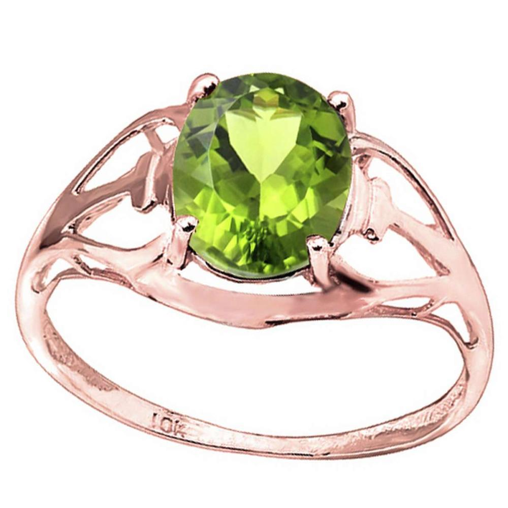 1.42 CT PERIDOT 10KT SOLID RED GOLD #IRS93819