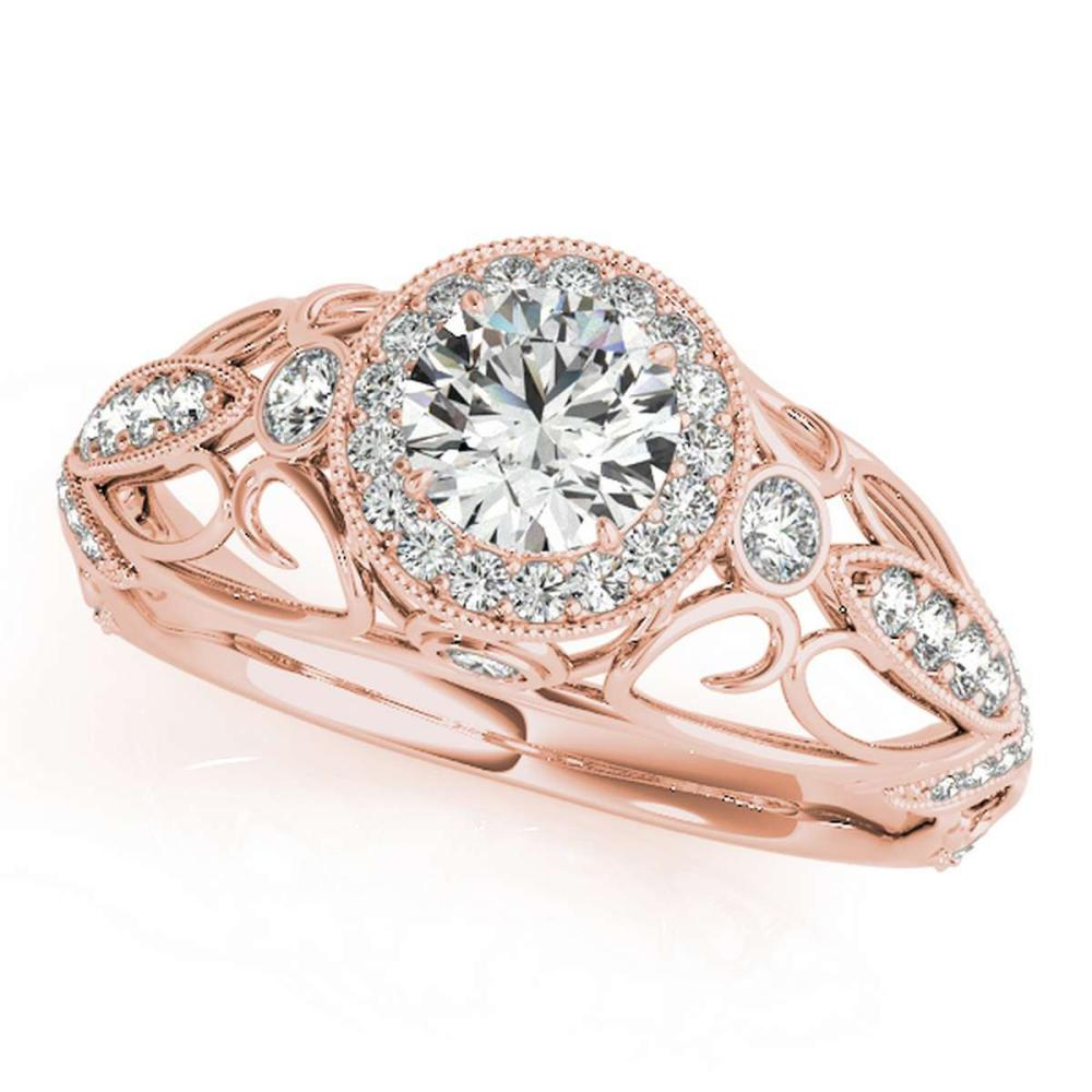 CERTIFIED 18K ROSE GOLD 1.20 CT G-H/VS-SI1 DIAMOND HALO ENGAGEMENT RING #IRS86311