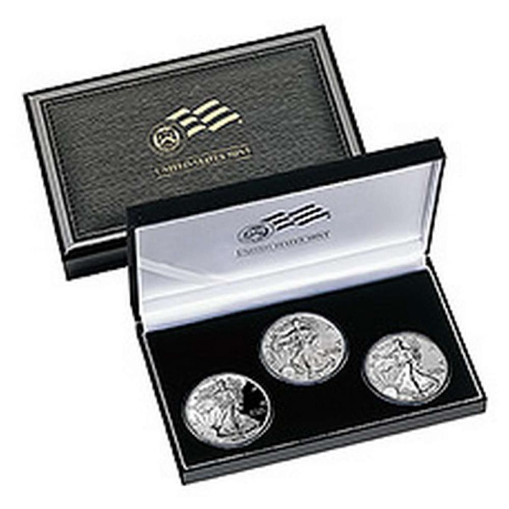 2006 American Eagle 20th Anniversary 3pc Silver Set Original Box #IRS81425