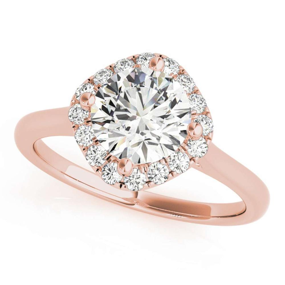 CERTIFIED 18K ROSE GOLD 1.16 CT G-H/VS-SI1 DIAMOND HALO ENGAGEMENT RING #IRS86277