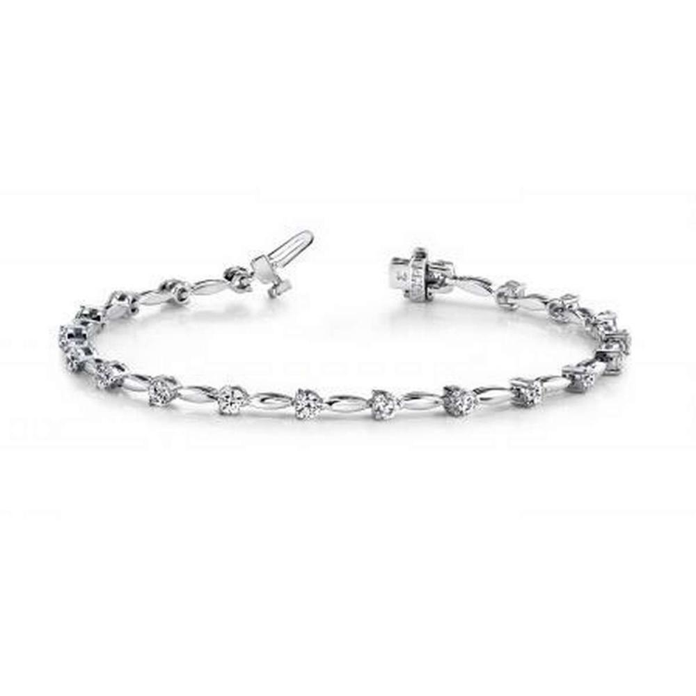 14K WHITE GOLD 1 CTW G-H VS2/SI1 ALTERNATING DIAMOND DROP BRACELET #IRS19919