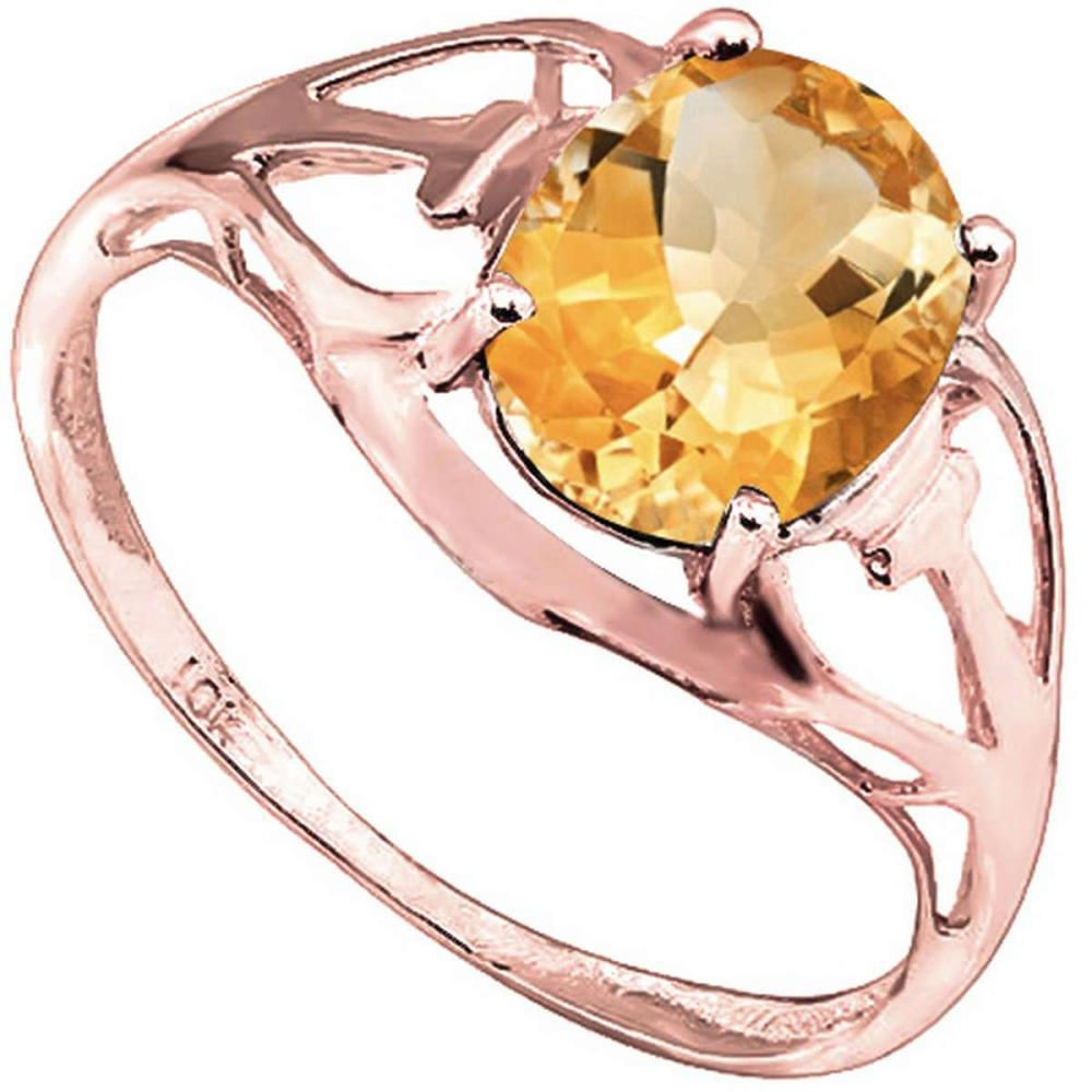 1.35 CT DARK CITRINE 10KT SOLID RED GOLD RING #IRS93824