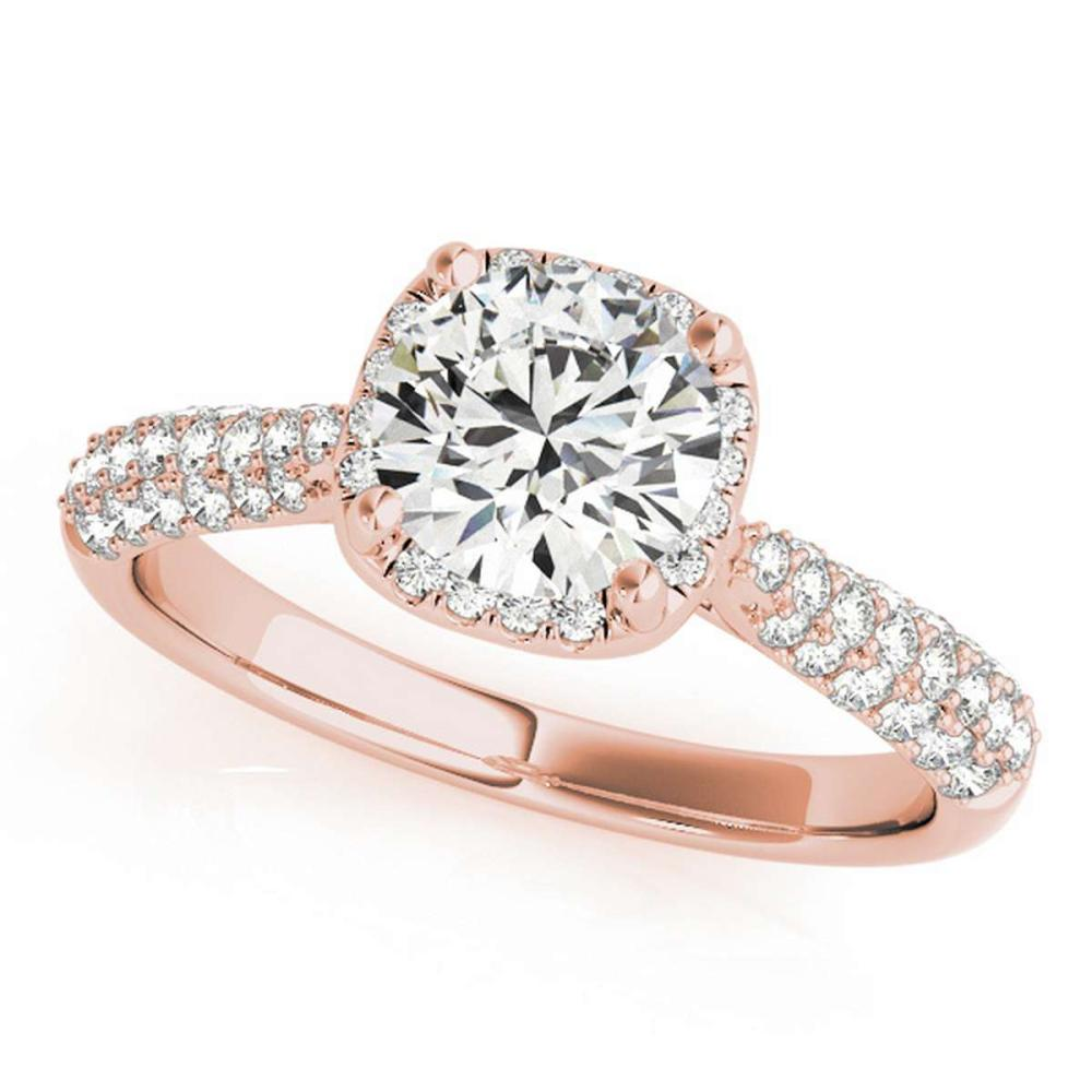 CERTIFIED 18K ROSE GOLD 1.15 CT G-H/VS-SI1 DIAMOND HALO ENGAGEMENT RING #IRS86269