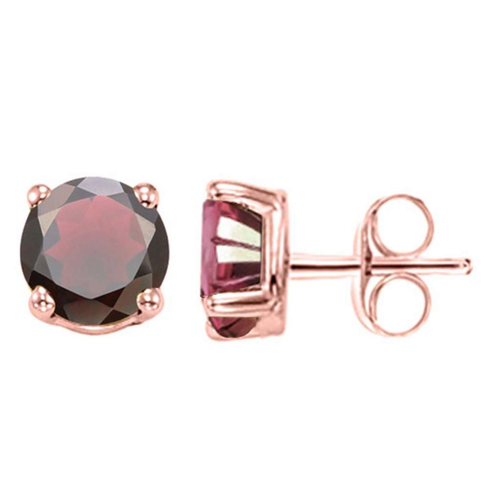 2.39 CT GARNET 10KT SOLID ROSE GOLD EARRING #IRS93696
