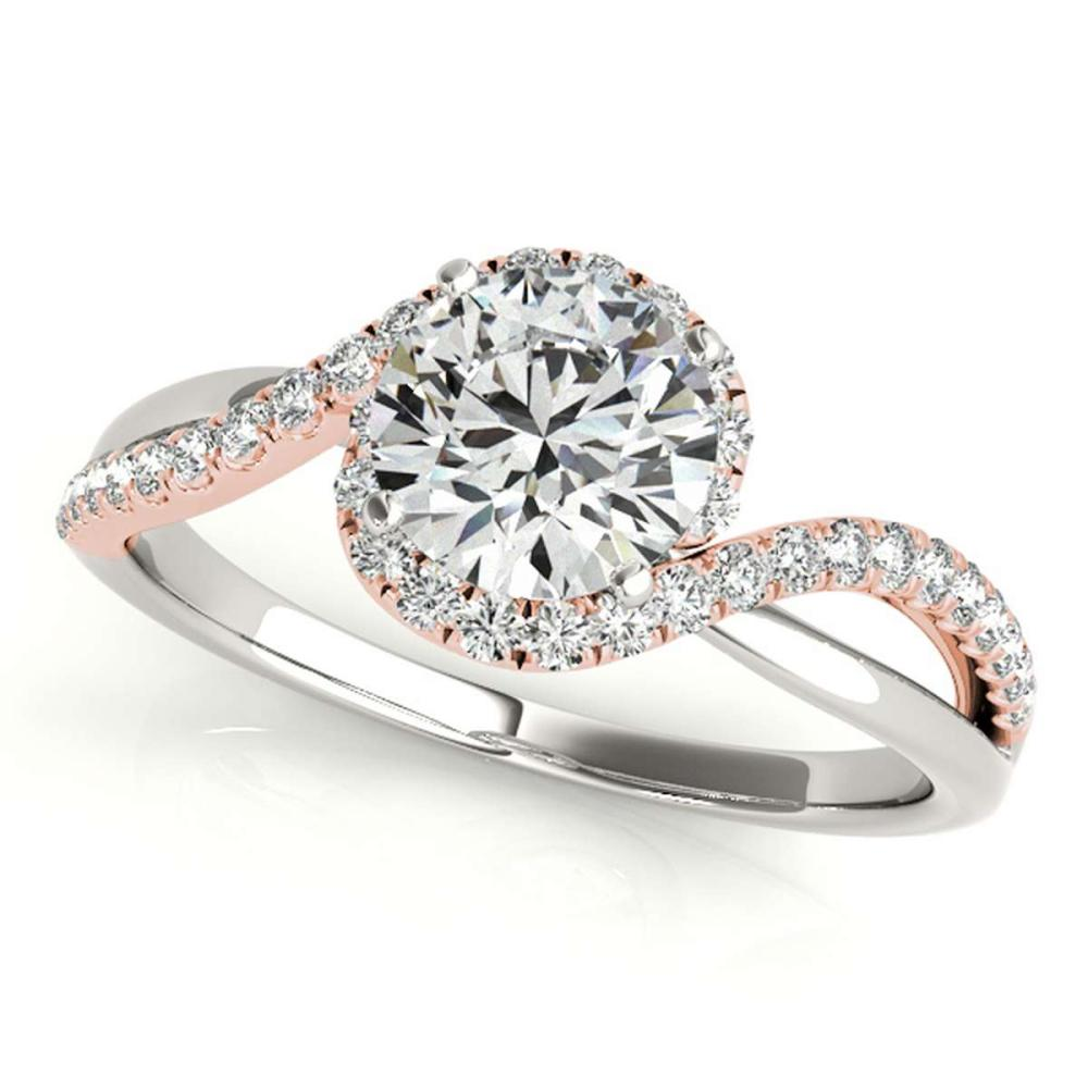 CERTIFIED TWO TONE GOLD 1.43 CT G-H/VS-SI1 DIAMOND HALO ENGAGEMENT RING #IRS86306