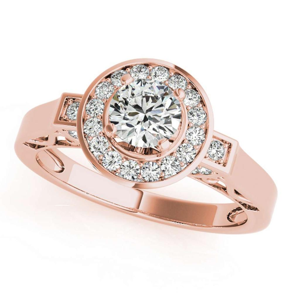 CERTIFIED 18K ROSE GOLD 0.97 CT G-H/VS-SI1 DIAMOND HALO ENGAGEMENT RING #IRS86319