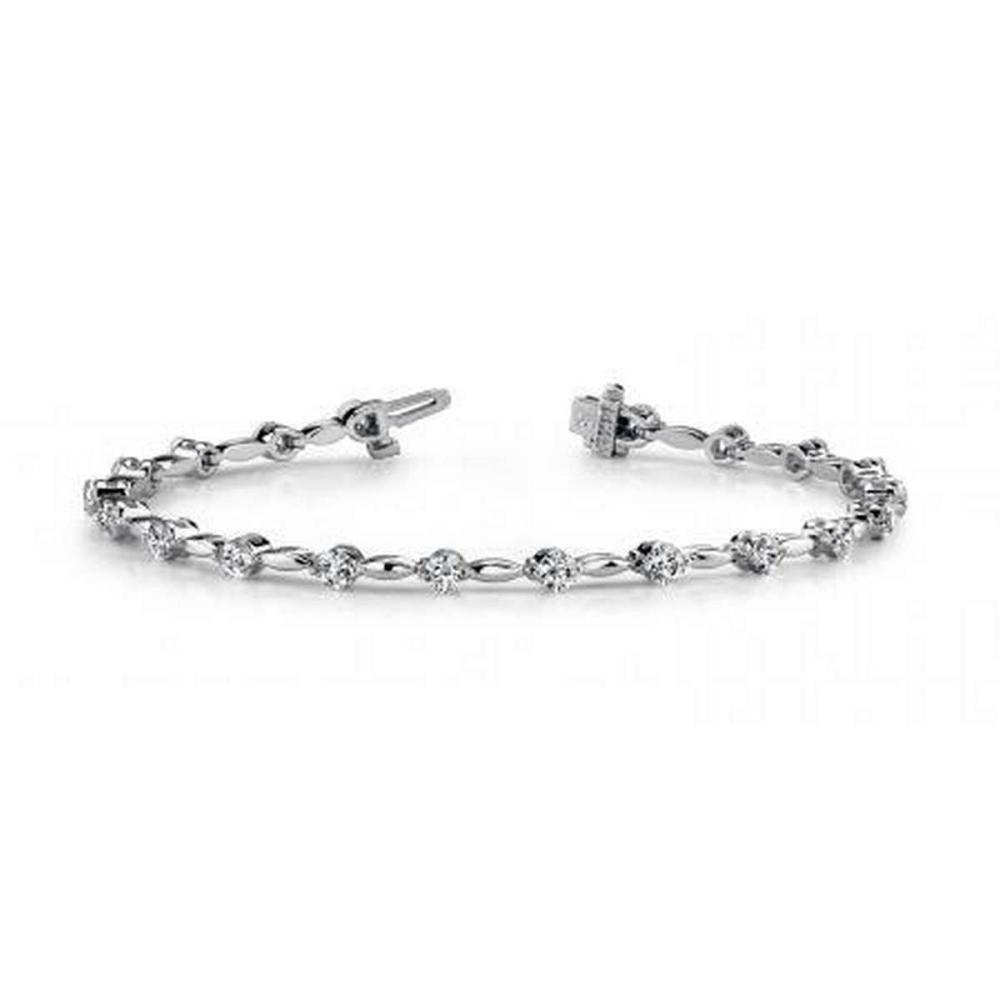 14K WHITE GOLD 1 CTW G-H VS2/SI1 TEARDROP LINK DIAMOND BRACELET #IRS19907