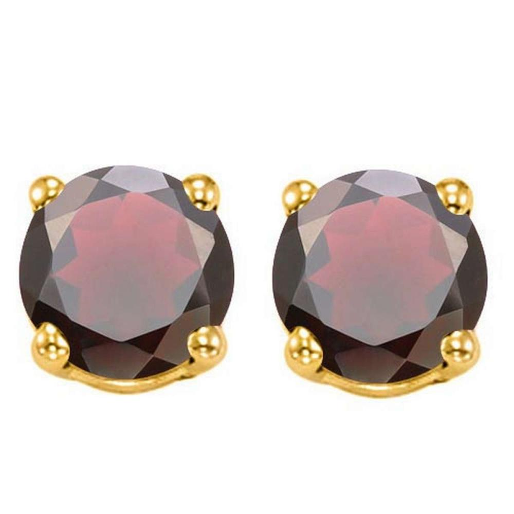 2.00 CTW GARNET 10K SOLID YELLOW GOLD ROUND SHAPE EARRING #IRS56731