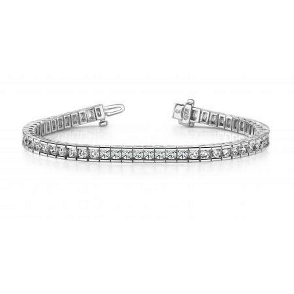 14K WHITE GOLD 2.50 CTW G-H VS2/SI1 CLASSIC DIAMOND BOX TENNIS BRACELET #IRS19967