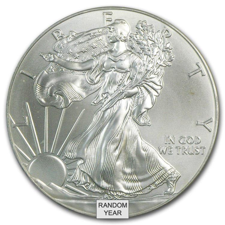 1 Oz Silver American Eagle Cull Damaged Etc Irs28850