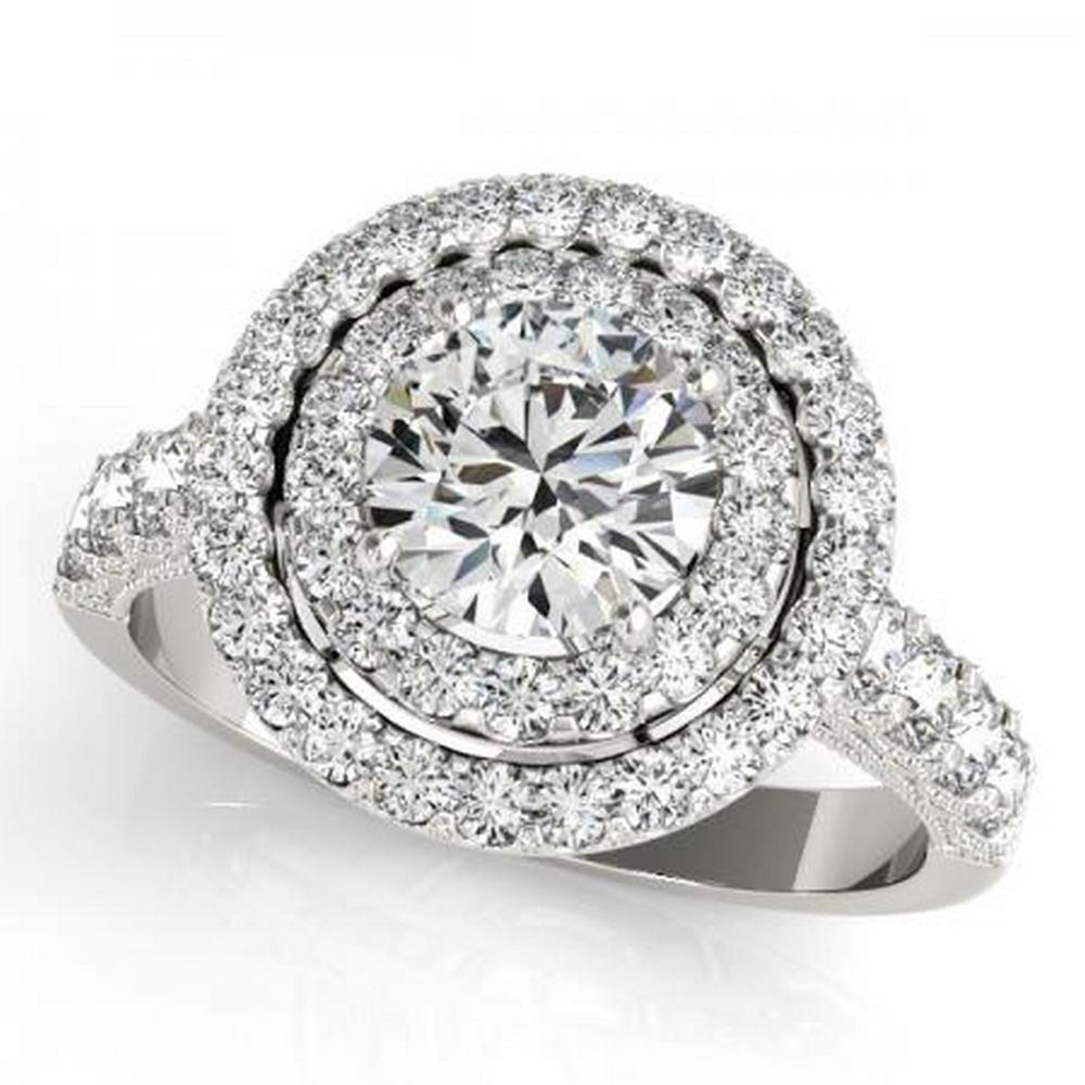 CERTIFIED PLATINUM 2.32 CTW G-H/VS-SI1 DIAMOND HALO ENGAGEMENT RING #IRS86218