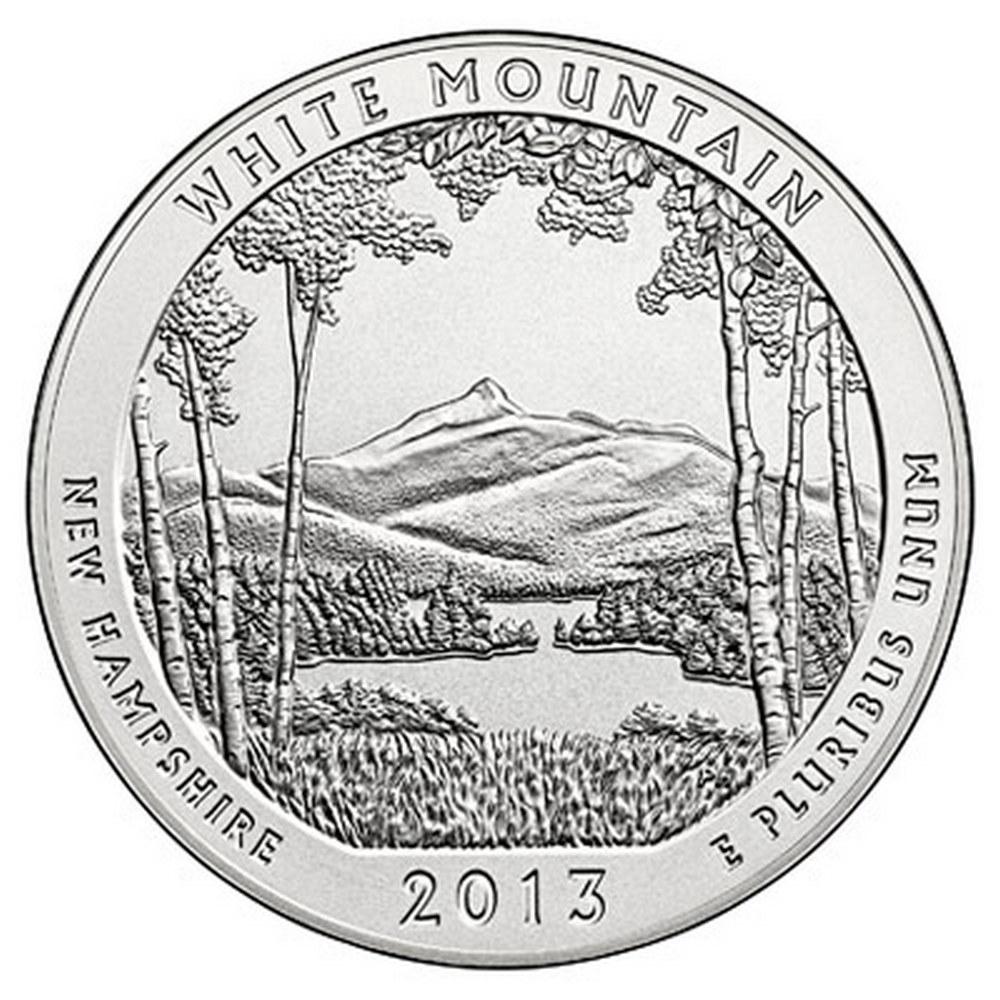 2013 Silver 5oz. White Mountain ATB #IRS81386