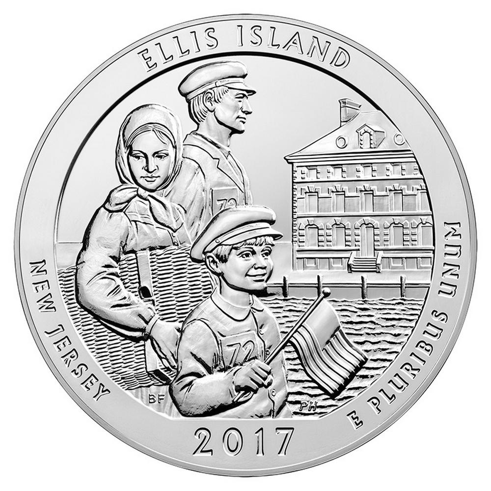 2017 Silver 5oz. Ellis Island ATB #IRS81393