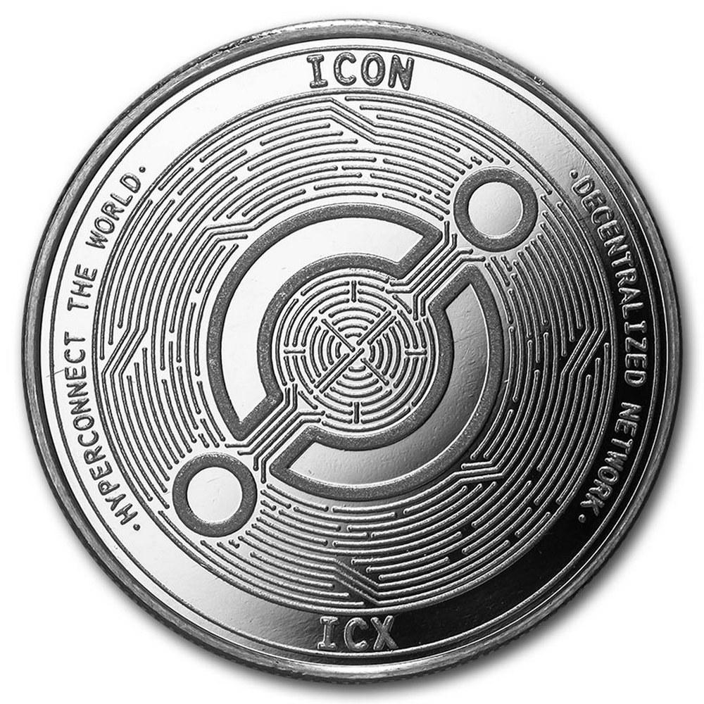 1 oz Silver Bullion Cryptocurrency Icon Round .999 fine #IRS81325