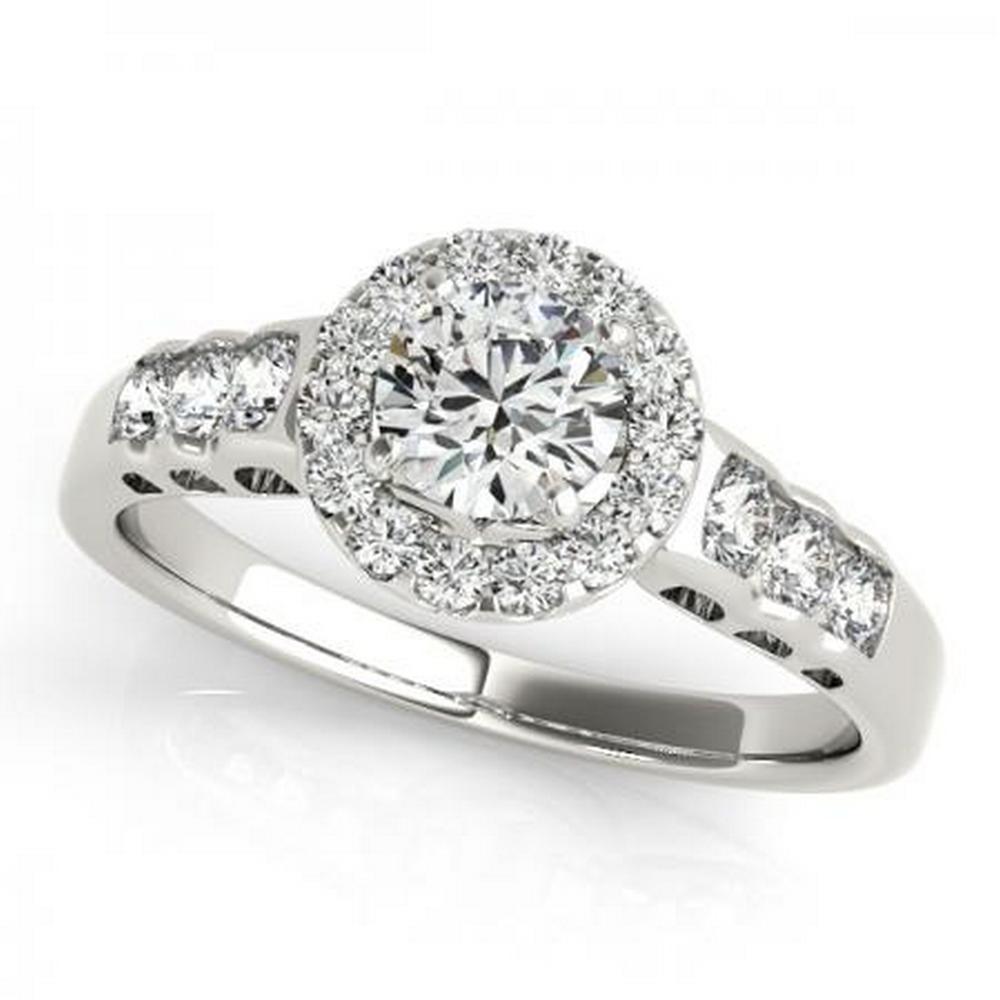 CERTIFIED PLATINUM 1.16 CTW G-H/VS-SI1 DIAMOND HALO ENGAGEMENT RING #IRS86180