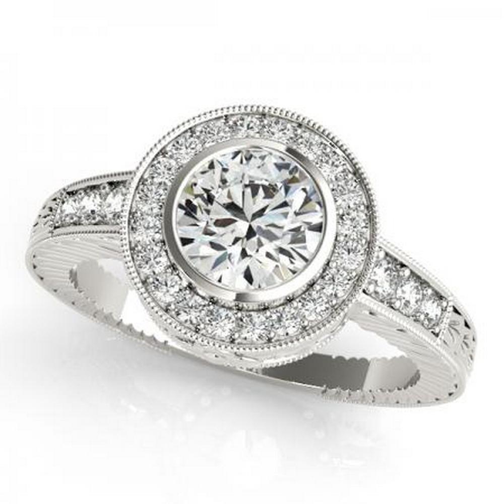 CERTIFIED PLATINUM 1.42 CTW G-H/VS-SI1 DIAMOND HALO ENGAGEMENT RING #IRS86215