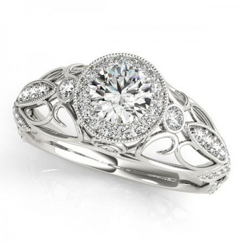 CERTIFIED PLATINUM 1.20 CTW G-H/VS-SI1 DIAMOND HALO ENGAGEMENT RING  #IRS86199