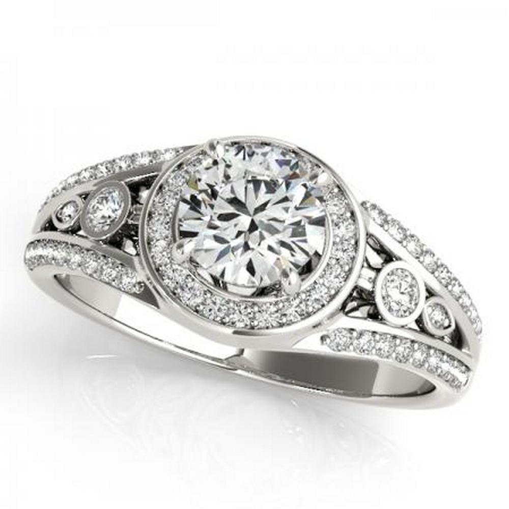 CERTIFIED PLATINUM 1.15 CTW G-H/VS-SI1 DIAMOND HALO ENGAGEMENT RING #IRS86177