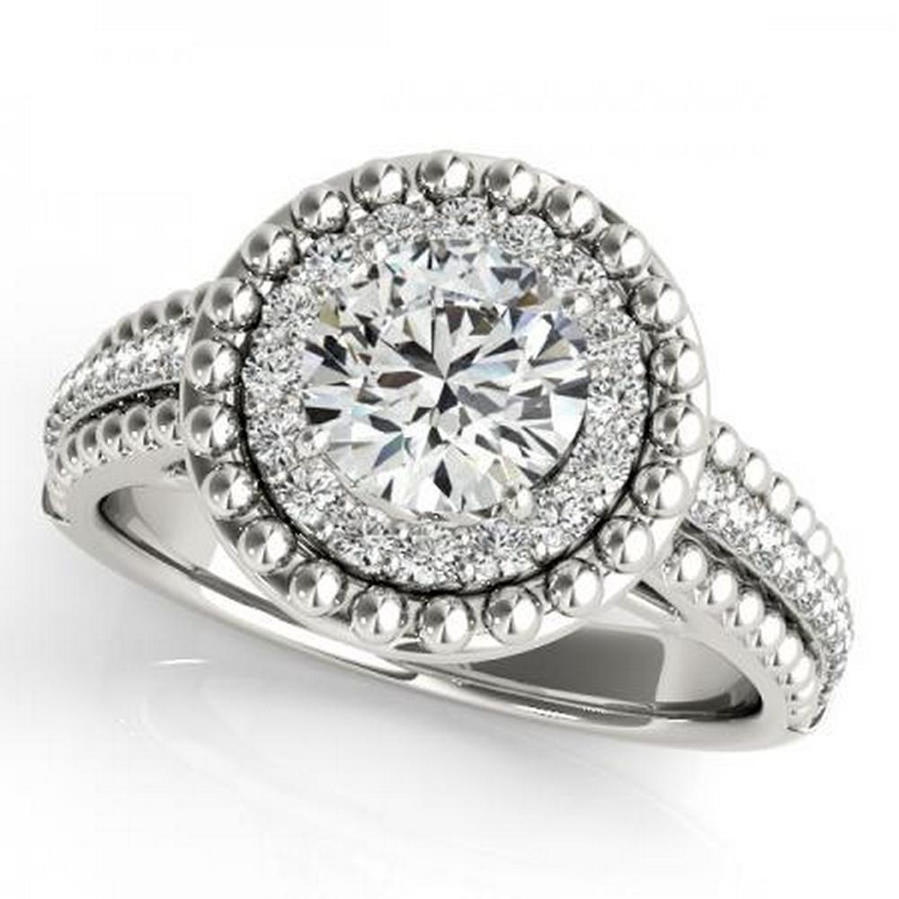 CERTIFIED PLATINUM 1.04 CTW G-H/VS-SI1 DIAMOND HALO ENGAGEMENT RING #IRS86162