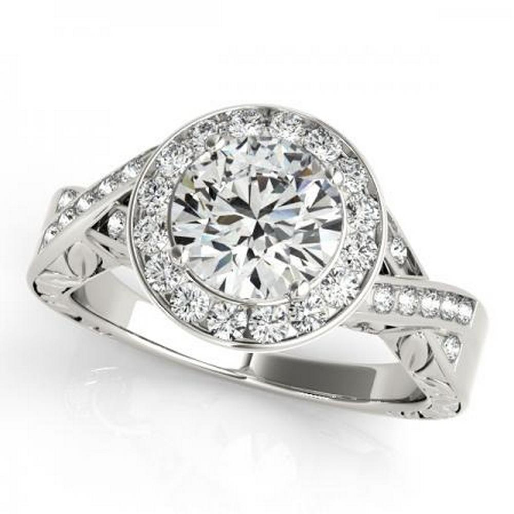 CERTIFIED PLATINUM 1.01 CTW G-H/VS-SI1 DIAMOND HALO ENGAGEMENT RING #IRS86167
