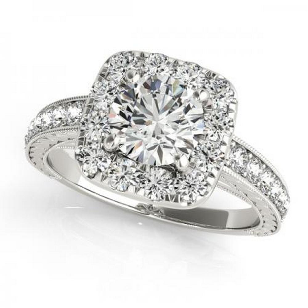 CERTIFIED PLATINUM 1.43 CTW G-H/VS-SI1 DIAMOND HALO ENGAGEMENT RING #IRS86182
