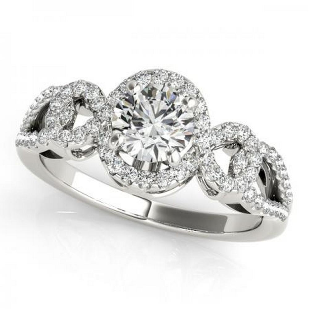 CERTIFIED PLATINUM 1.34 CTW G-H/VS-SI1 DIAMOND HALO ENGAGEMENT RING #IRS86188