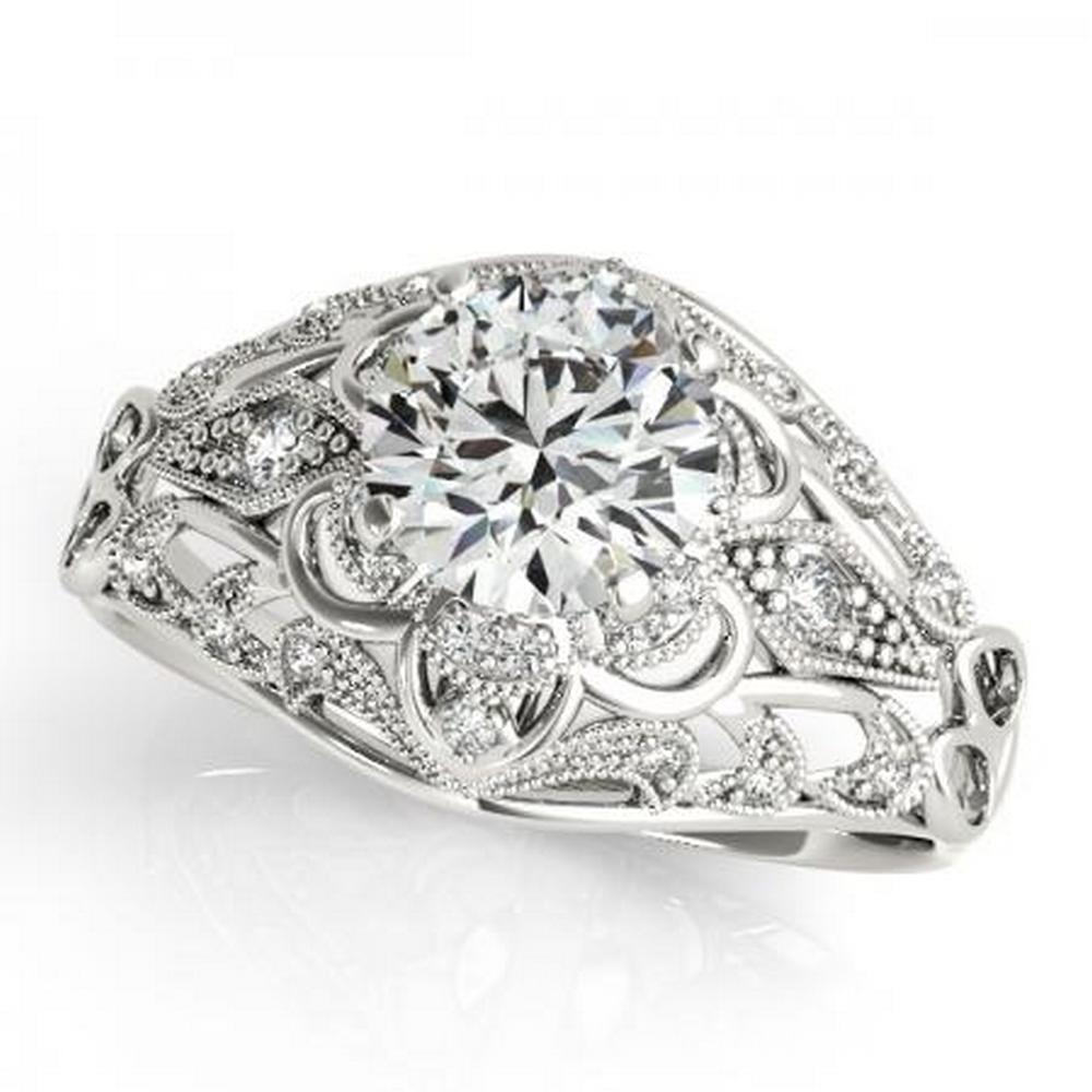 CERTIFIED PLATINUM 0.79 CTW G-H/VS-SI1 DIAMOND HALO ENGAGEMENT RING  #IRS86192
