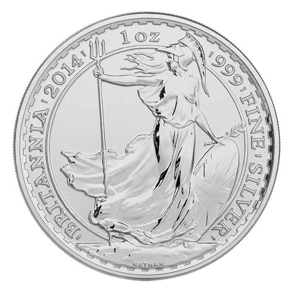 Uncirculated Silver Britannia 1 oz 2014 #IRS81473