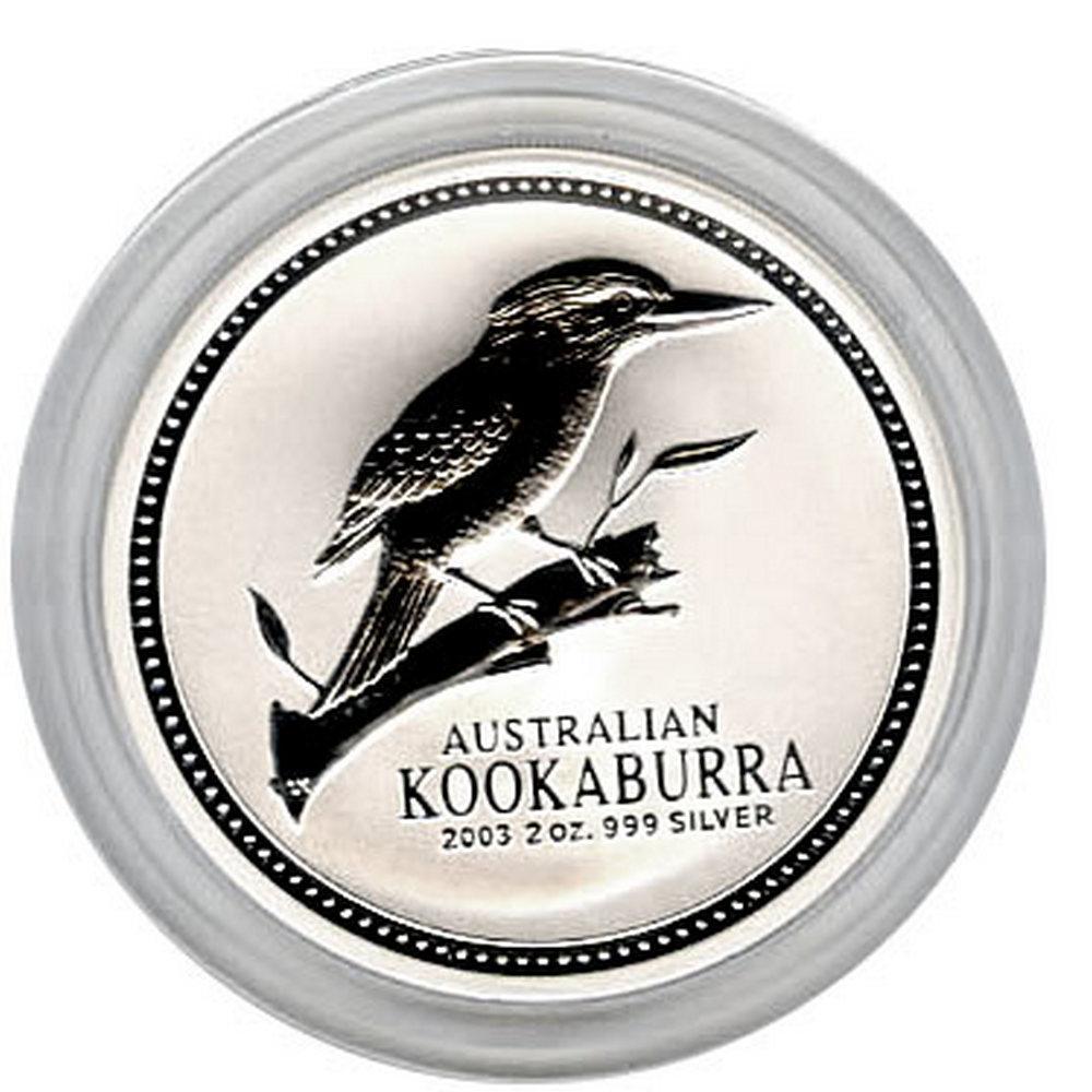 Australian Kookaburra 2 oz. Silver 2003 #IRS81318