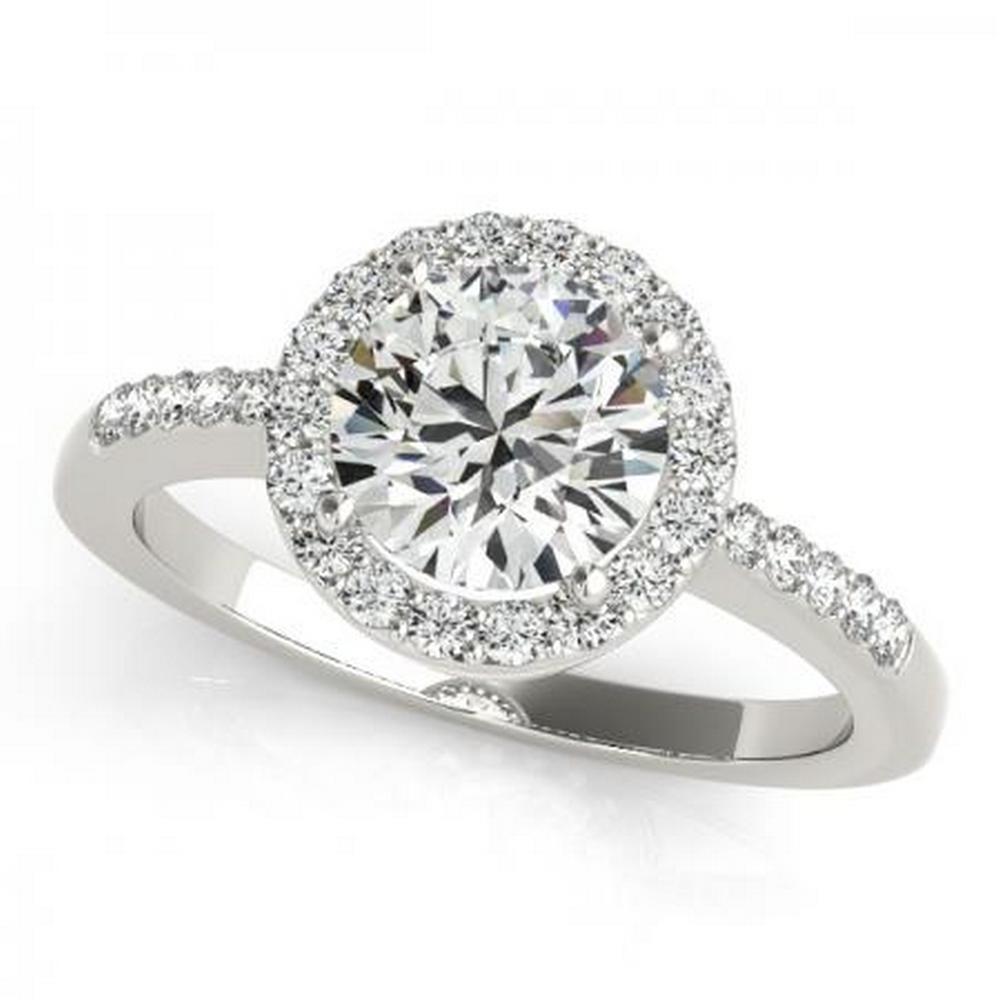 CERTIFIED PLATINUM 1.35 CTW G-H/VS-SI1 DIAMOND HALO ENGAGEMENT RING #IRS86239