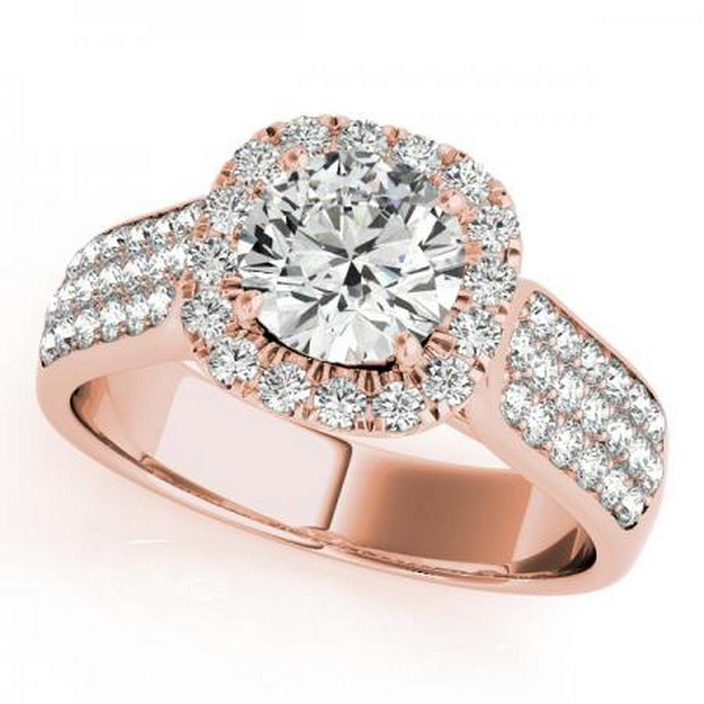 CERTIFIED 18K ROSE GOLD 1.40 CT G-H/VS-SI1 DIAMOND HALO ENGAGEMENT RING #IRS86282